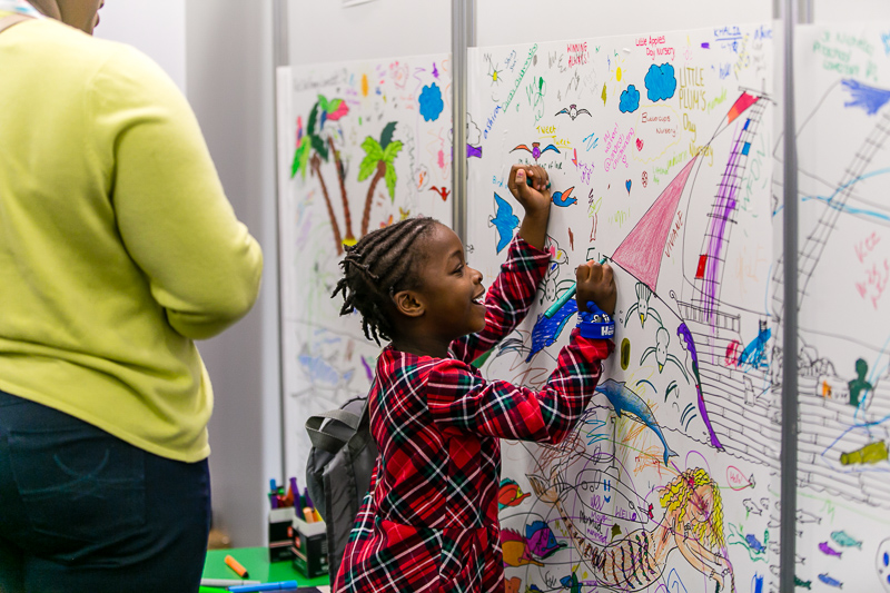 Childcare Expo London - colouring wall